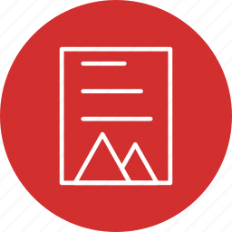 document, form, page, paper, reading, word icon