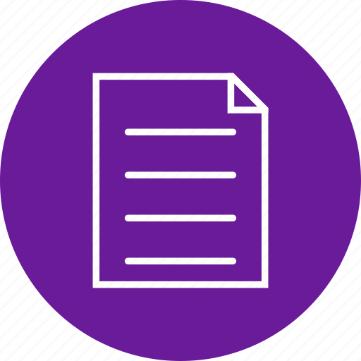 document, file, report, sheet icon