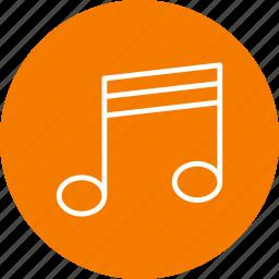 audio, multimedia, music, note icon