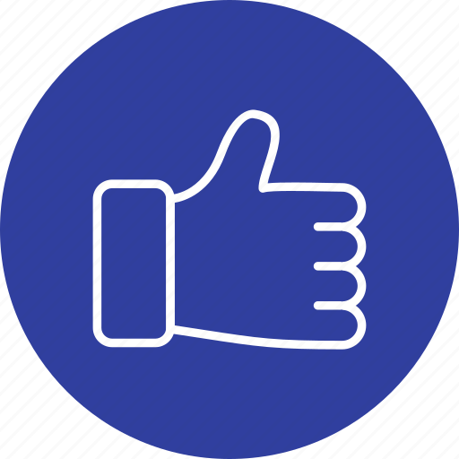 gesture, hand, like, thumbs up icon
