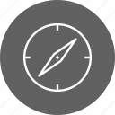compass, direction, gps, location icon