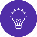 bulb, idea, light, light bulb icon