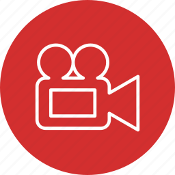movie, multimedia, video, video camera icon