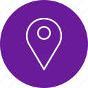 gps, location, pin, place icon