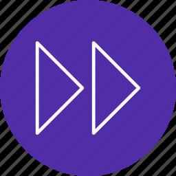 forward, forward arrows, right icon