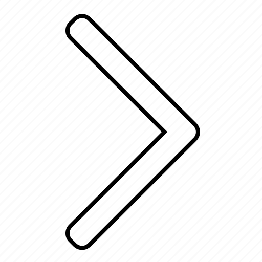 arrow, basic, forward, right, ui icon