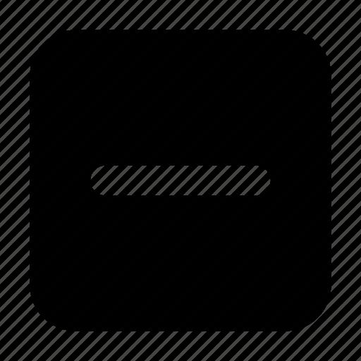 basic, essential, interface, minus, square, ui icon