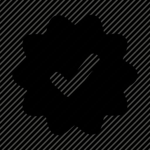 basic, essential, interface, ui, verified icon