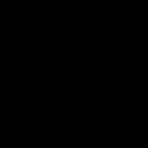 filter, funnel, short, shorting icon