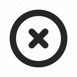 clear, close, delete, erase, no, remove, wrong icon