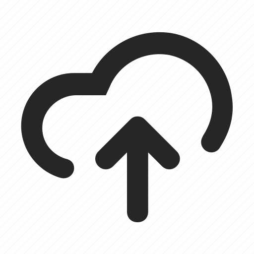 arrow, cloud, data, hosting, storage, sync, upload icon