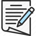 doc, file, list, paper, pen, text, write icon