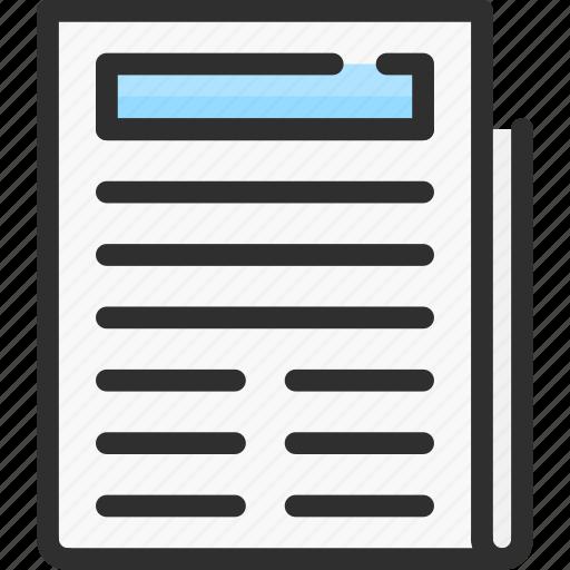 forum, news, newspaper, read icon