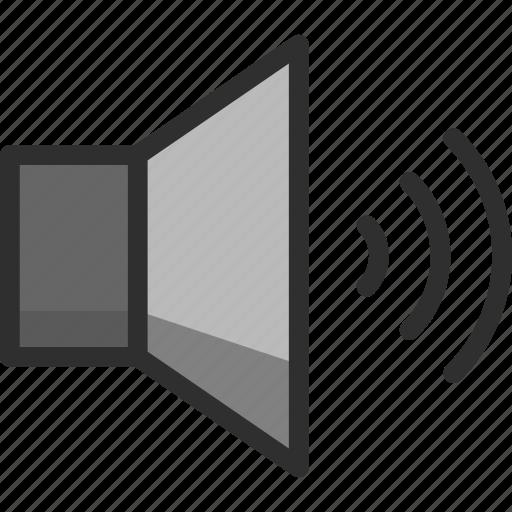 level, loud, sound, speaker icon