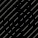 aim, bulleye, purpose, target icon icon