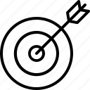 arrow, goal, hit, material, target icon icon