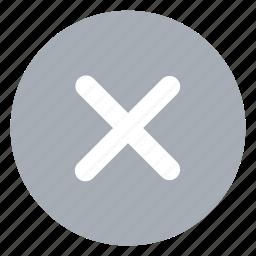 check, delete, exit, no icon