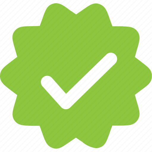 check, ok, sticker, verified icon
