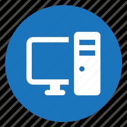 computer, desktop, it icon