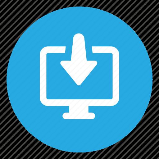 computer, download, file icon