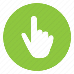 click, point, touch icon