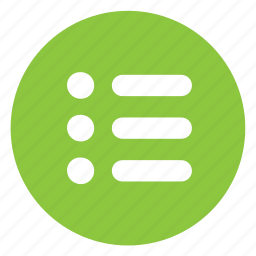list, view icon