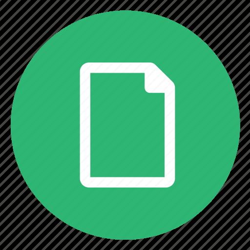 empty, file, new icon