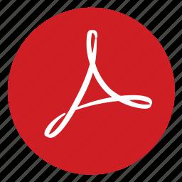 acrobat, adobe, pdf icon