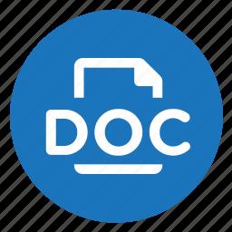doc, document, word icon