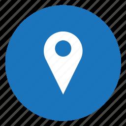 location, pin icon