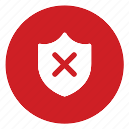 dangerous, shield, unsecure icon