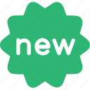 new, sticker icon