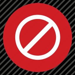 stop, unavailable icon