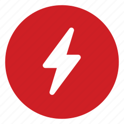 electricity, flash icon