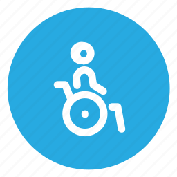 disabled, handicap, handicapped, wheelchair icon