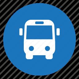 bus, coach, transit icon