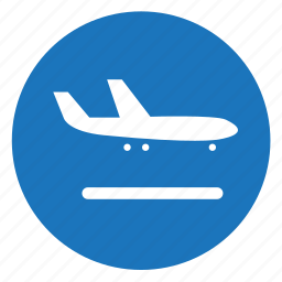 airport, arrival, flight icon