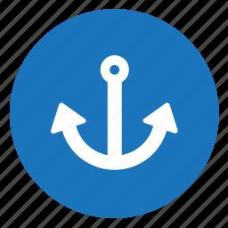 anchor, boat, marina, sea icon