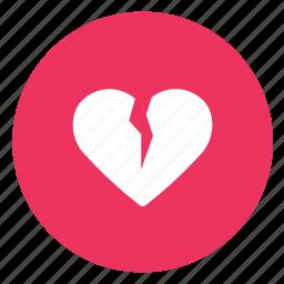 broken, divorce, love icon