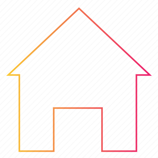 gradient, home, house, interface, real estate, ui icon