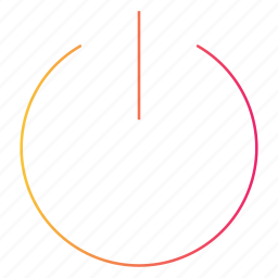 gradient, interface, on, power, start, ui icon