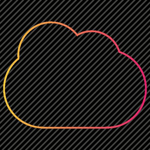 cloud, gradient, interface, sync, ui, upload, web icon