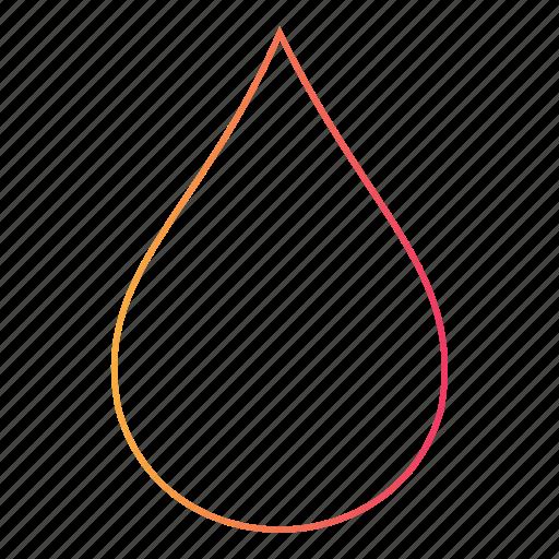 droplet, moisture, tear, teardrop, water, wet icon