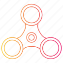 fidget spinner, fun, kids, spinner, toy icon