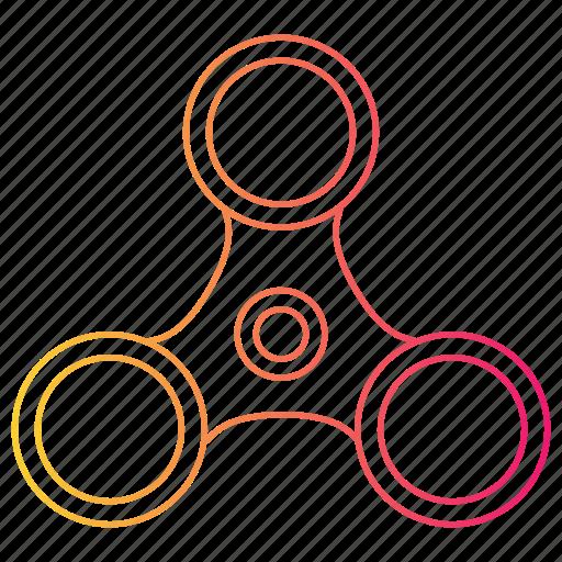 fidget spinner, fun, kids, spinner, toy icon