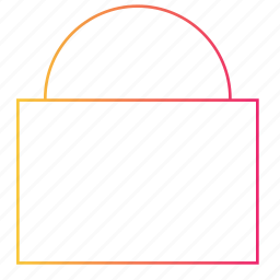 access, gradient, interface, lock, secure, security, ui icon