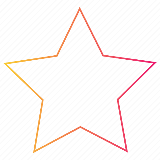 favourite, gradient, interface, rating, star, ui icon