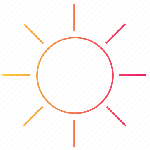 brightness, gradient, interface, sun, ui, weather icon