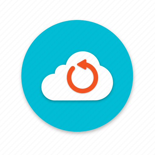 cloud, interface, loading, material design, refresh icon
