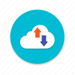 cloud, download, interface, material design, storage, upload icon